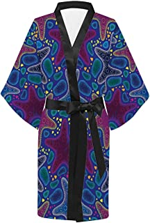 Leaves Casual Kimono Robe,for Party