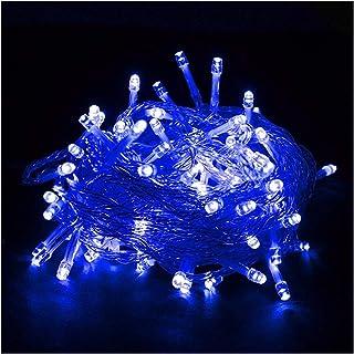 ASKLKD LED chaîne 8 Modes 10M-500M Intérieur Décoration Murale extérieure Guirlande Lumineuse étanche Fournitures de Vacan...