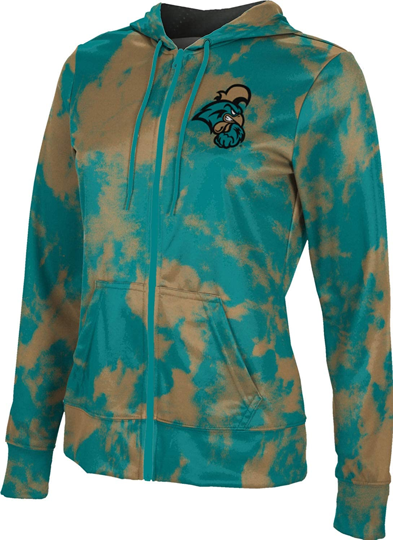 Coastal Carolina University Girls' Zipper Hoodie, School Spirit Sweatshirt (Grunge)