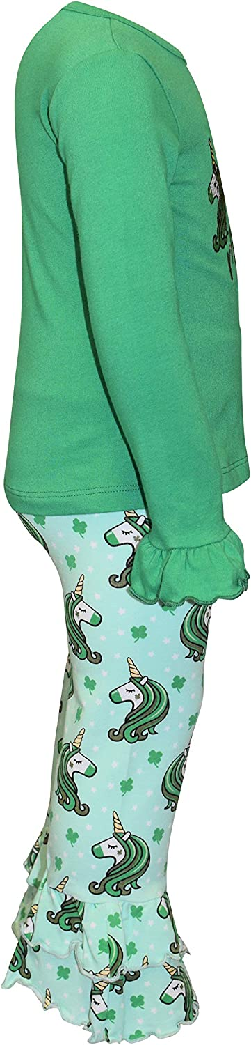 Unique Baby Girls Unicorn Ruffle Pants St Patricks Day Outfit