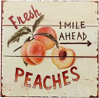 Barnyard Designs Fresh Peaches Retro Vintage Tin Bar Sign Country Home Decor 11