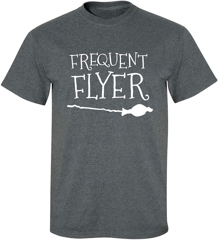Frequent Flyer Adult T-Shirt in Dark Heather - XXXX-Large