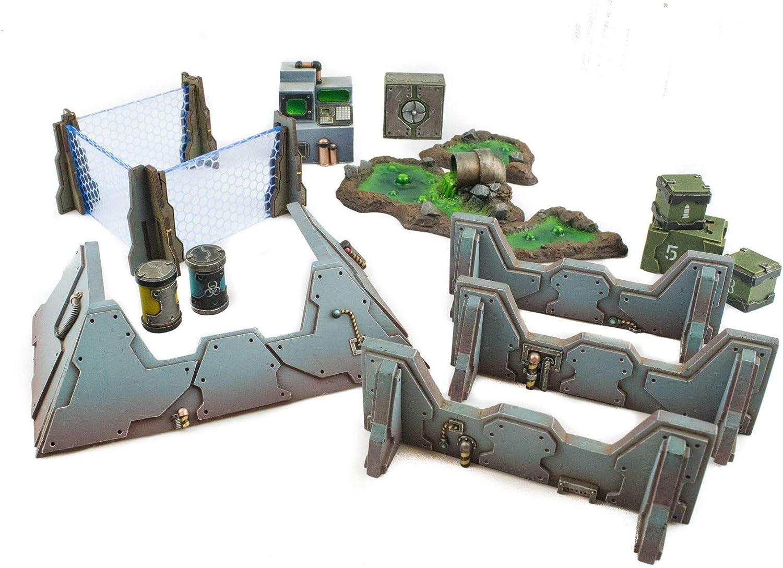 War World Gaming Industry of War Full Resin Kit – 28mm Wargaming Terrain Model Diorama