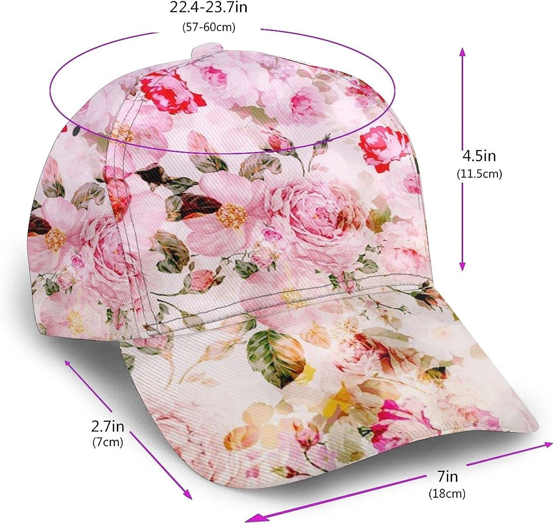 vdcucc Tropical Flower Monarch Butterfly Hat Sun Hats Adjustable Baseball Cap Trucker Cap for Men Women Adults