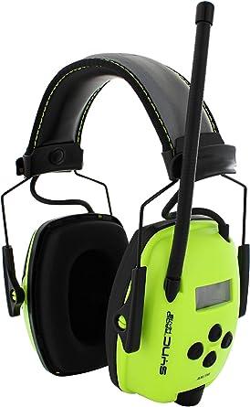 Howard Leight by Honeywell Sync Hi-Visibility Digital AM/FM Radio Earmuff (1030390),Bright Yellow/Green