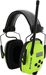 Howard Leight SYNC Radio Hi-Vis Earmuff 1030332 Neon Green Headphone Muff Digital AM/FM Hi-Fidelity Stereo Audio LCD Display Reflective Headband Honeywell Muff Connect Device Hearing Ear Protection Lightweight Australian Safety Certified 26dB Class 5