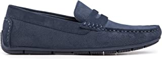 Baldi Men's Konzo Navy/Taupe Mocassine Casual Shoes Comfy Casual Slip on Shoes wear with Jean to Office and Outdoor