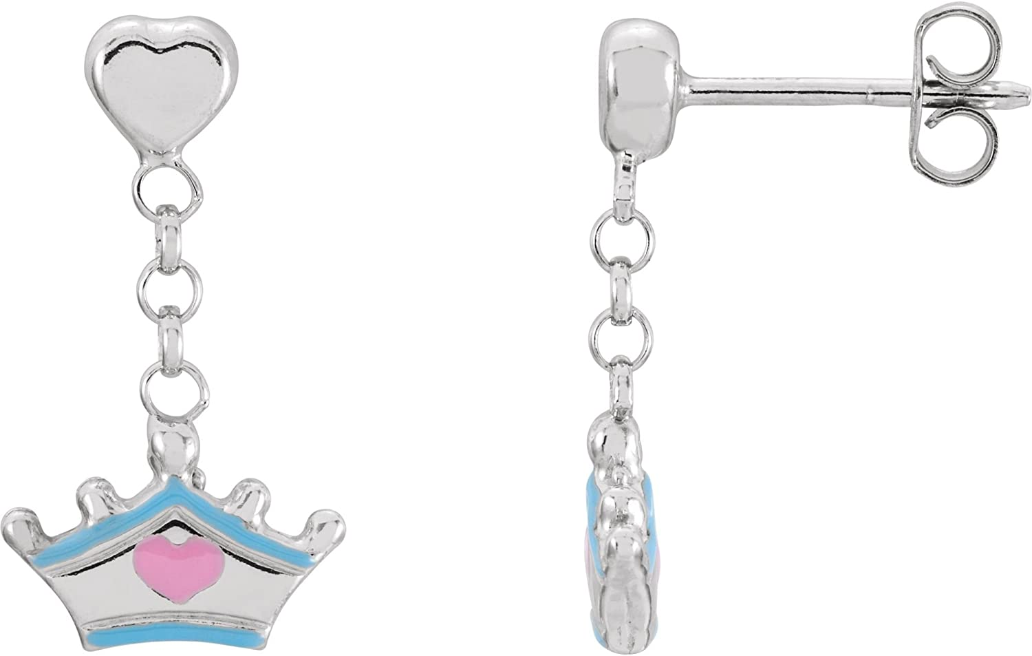 Sterling Silver Cinderella Tiara Earrings