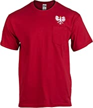 Polish Eagle Pocket Tee | Embroidered Poland Pride Polska Warsaw T-Shirt for Men