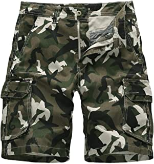WAWAYA Men Multi Pockets Fashion Straight Stretchy Outwear Military Cargo Pants