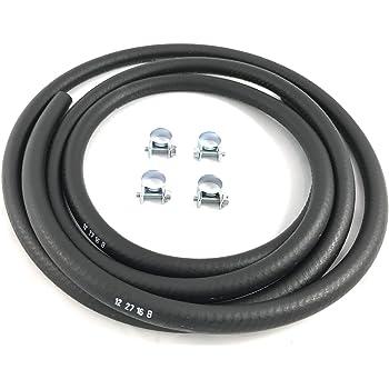 """Fuel Hose 30R7 3/8"""" I.D. 6 Feet USA w/ 4 Clamps"""