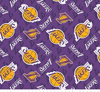 NBA LA Los Angeles Lakers Anti-Pill Fleece Fabric - 2 Yards