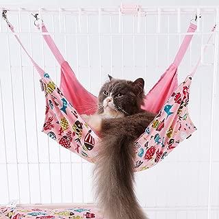 Pet Hammock - Cage Hammock - Cotton Canvas Fabric - Lovely Fish Design Pet Bed – Hammock for Cats, Ferret, Rat, Chinchilla, Rabbit, Small Dogs