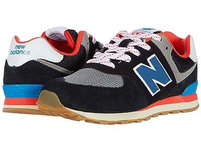 New Balance Kids 574 Core Plus (Little Kid) (Black/Neo Classic Blue) Boys Shoes