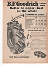 B.F. Goodrich Power Curve Tires Tractor Truck 1953 Farm Antique Advertisement