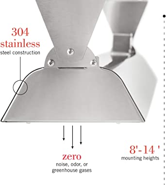 """Infratech WD-6024 SS Stainless Steel 61.25"""" Dual Element Fixture 6000 Watt, 240 Volt, Stainless Steel"""