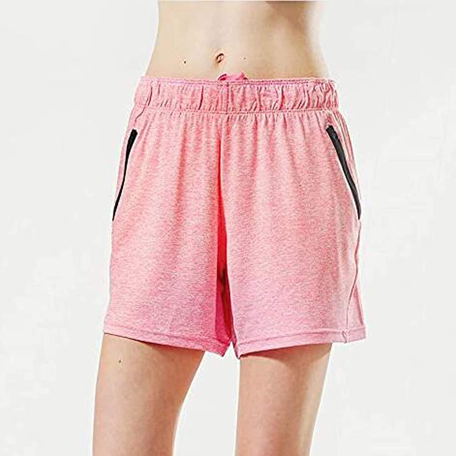 Cbcbtwo Yoga Pants Fashion Casual Mid Cotton High Elastic Waist Active Solid Shorts with Pockets