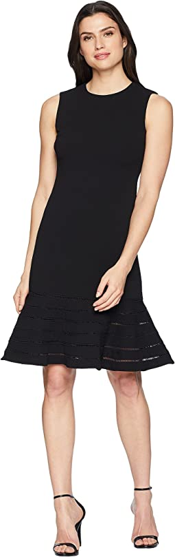 Calvin Klein Faggotting Trim A-Line Dress CD8C19MG