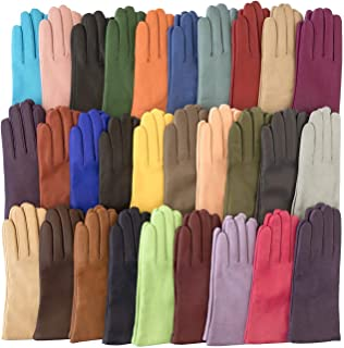 Women's Italian Cashmere Lined Leather Gloves