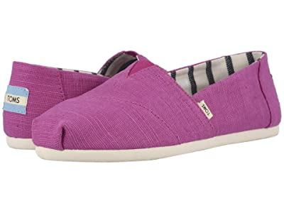 TOMS Venice Collection Alpargata (Red Plum Heritage Canvas) Women