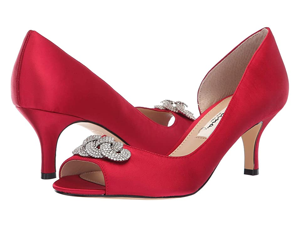 Nina Madolyn (Crimson Satin) High Heels