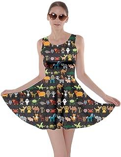 0889c8bd890 CowCow Womens Dog Cat Horse Pig Hippo Sheep Rabbit Panda Animal Skater Dress