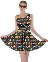 CowCow Womens Dog Cat Horse Pig Hippo Sheep Rabbit Panda Animal Skater Dress, XS-5XL