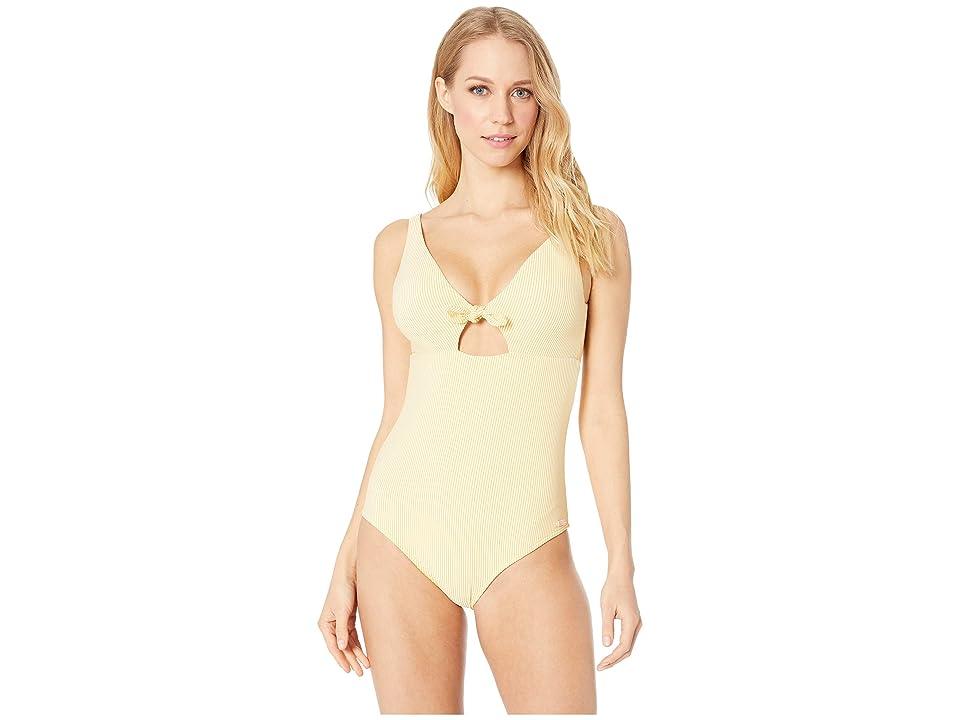 Roxy Bali Dreamers One-Piece Swimsuit (Ochre Cornfield Stripes) Women