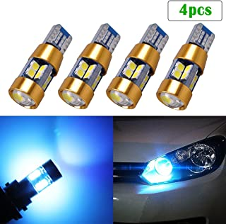 LED Light Bulb T10 W5W 194 168 Ice Blue 8000K 3030 SMD Wedge for Car Interior Festoon Map License Plate Backup Reading Parking Trunk Marker Dome Lights Auto Lamp Bright 12V 6W 1 Year Warranty【1797】