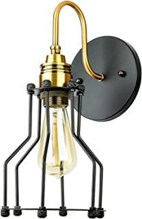 Sunlite 07056-SU Vintage-Style Open Cage Wall Sconce Fixture, Medium Base Socket, UL Listed, Copper Bronze and Oil Rubbed ...