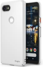 Ringke Slim Compatible with Google Pixel 2 XL Case Snug-Fit Slender (Tailored Cutouts) Lightweight, Thin Scratch Resistant Dual Coating PC Hard Skin Cover for Google Pixel2 XL - White