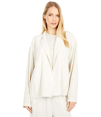 Eileen Fisher Notch Collar Boxy Jacket (Bone) Women