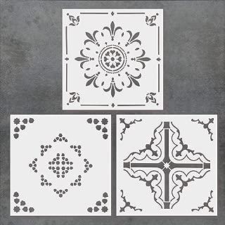 cement tile pattern stencil
