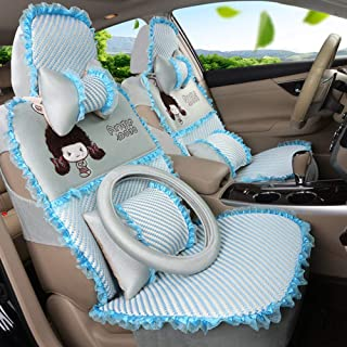 JKHOIUH Protector de cinturón de Seguridad Universal Impermeable/a Prueba de Sudor for el Verano: el Mejor Protector de Asientos de automóvil de Encaje Antideslizante - Perfecto for el Gimnasio for
