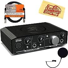 Mackie Onyx Artist 1-2 USB Audio Interface Bundle with Pop Filter, XLR Cable, and Austin Bazaar Polishing Cloth