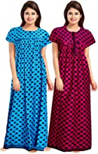 Trendy Fab Girls Cotton Nighty(Multicolor, Free Size) Combo Pack of 2 Peice