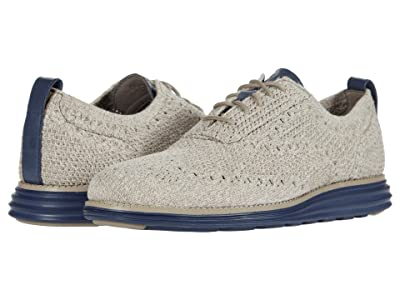Cole Haan Original Grand Stitchlite Wing Tip Oxford (Vintage Khaki/Birch Knit/Vintage Indigo) Men
