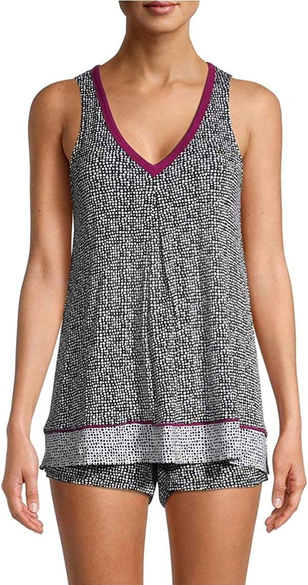 Black Soot Dots Tank gift Pajama Sleep Boxer Set Los Angeles Mall