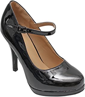 793525f3f088 Titan Mall Forever Chase-66 Womens Sexy Round Toe Platform Stiletto Pumps Mary  Jane Pumps