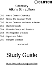 Study Guide for Chemical Principles, 6th Edition, by Atkins