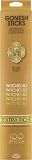 Gonesh Extra Rich Collection Patchouli – 100 Stick Pack-Incense