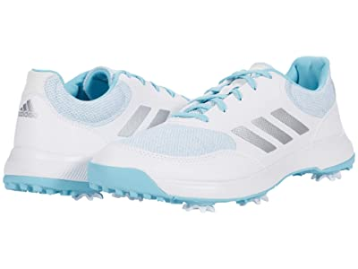 adidas Golf Tech Response 2.0 (White/Silver Metallic/Hazy Sky) Women