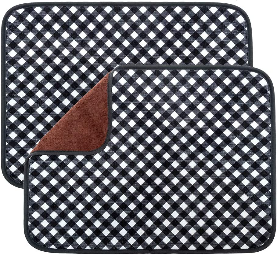 Store OUTCREATOR Absorbent overseas Reversible Microfiber Dish for Drying Mat