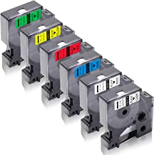 12 MM x 7 M LabelPoint 100 150 200 250 300 350 pc 400 450 Duo TIANSE 5 colores Casete de Cinta Compatible para D1 Dymo 45013 S0720530 para Dymo LabelManager 100 110 120P 150 160 PC2