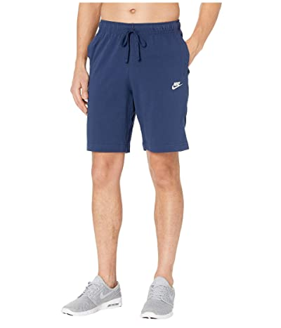 Nike NSW Club Shorts Jersey (Midnight Navy/White) Men