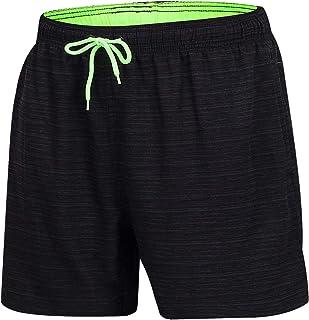Arcweg Men's Swim Trunks Mens Board Shorts with Zipper Pockets Surfing Stretchy Beach Shorts Breathable Mesh Lining Quick ...
