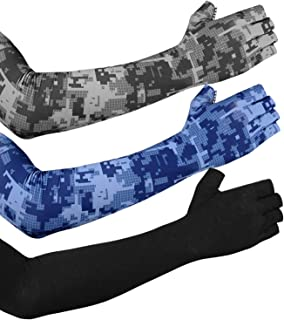 EXski UV Protection Arm Sleeves - Cooling Sun Protection for Cycling Driving Running Golfing Outdoor