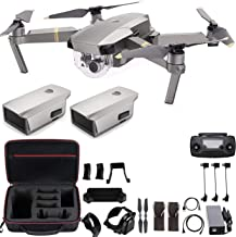 DJI Mavic Pro Platinum with Extra Battery, Flagship 4K Quadcopter Drone with 30 Mins Flight Time, 7 km Range, Obstacle Avo...