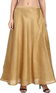 41acb013c0 Shararat Women's Long Indo Western Traditional Skirt (Free Size: stretch  from 28 to 36