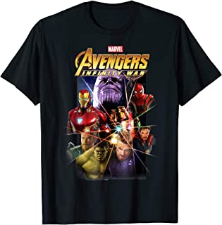 Marvel Avengers Infinity War Gauntlet Prism Graphic T-Shirt